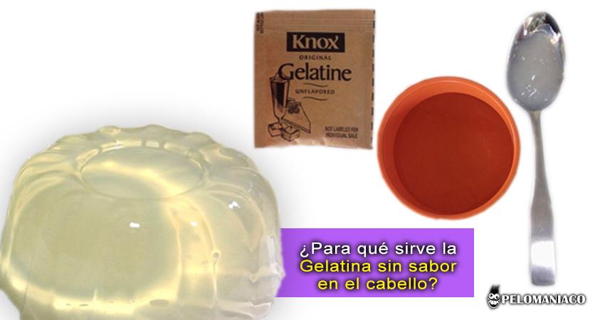 Para que sirve la gelatina sin sabor en el cabello