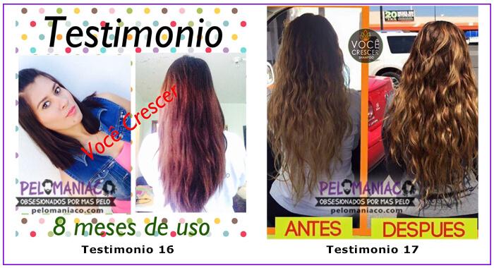 Testimonio Shampoo Voce Crescer pelomaniaco 8