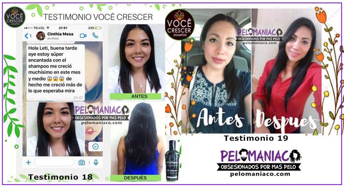 Shampoo Voce Crescer Testimonio pelomaniaco
