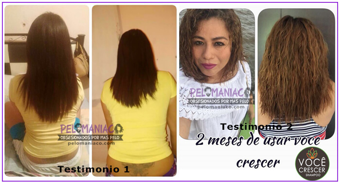 Testimonio Shampoo Voce Crescer pelomaniaco