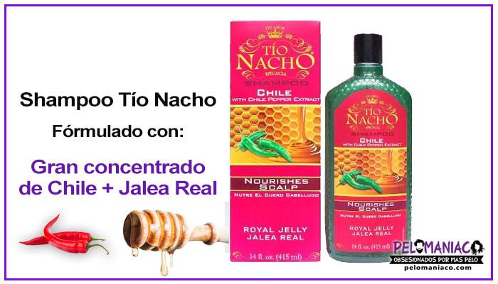 Shampoo Tío Nacho de Chile y Jalea Real