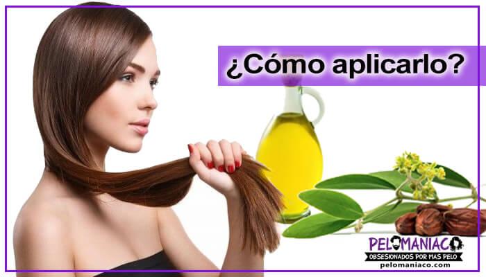 como aplicar aceite de jojoba en el cabello
