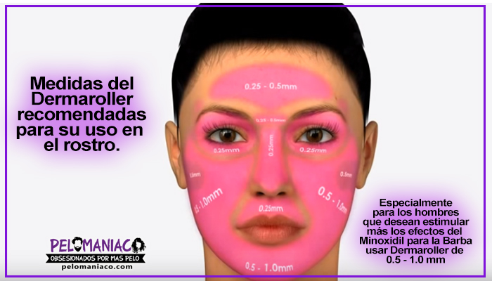 uso del dermaroller en el rostro