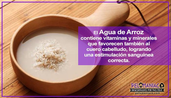 beneficios del agua de arroz para el cabello