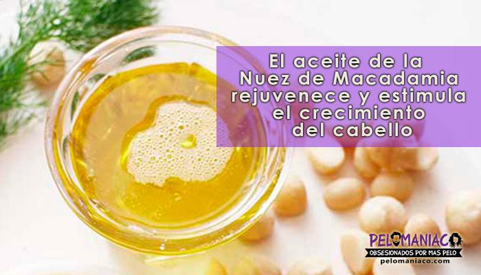 aceite de macadamia para el cabello