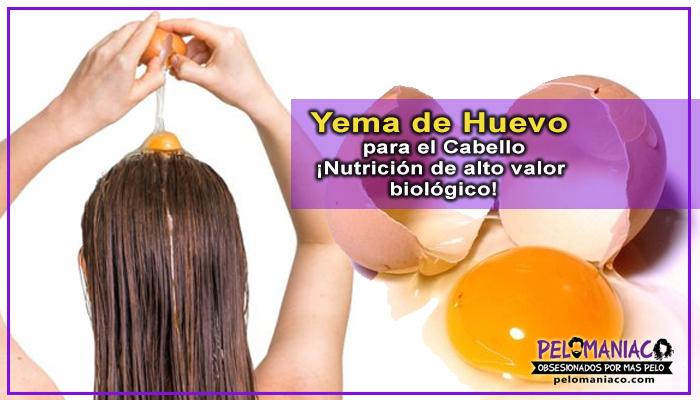 yema de huevo para el cabello remedio casero