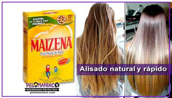 maizena para alisar el cabello