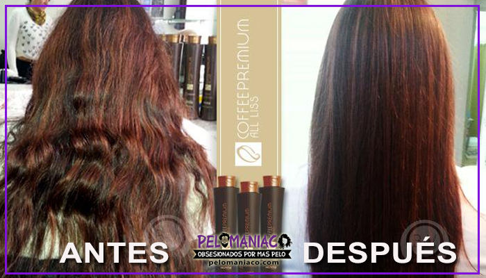 alisado coffee premium antes y despues 2