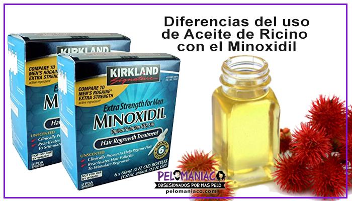 aceite de ricino y minoxidil para la barba