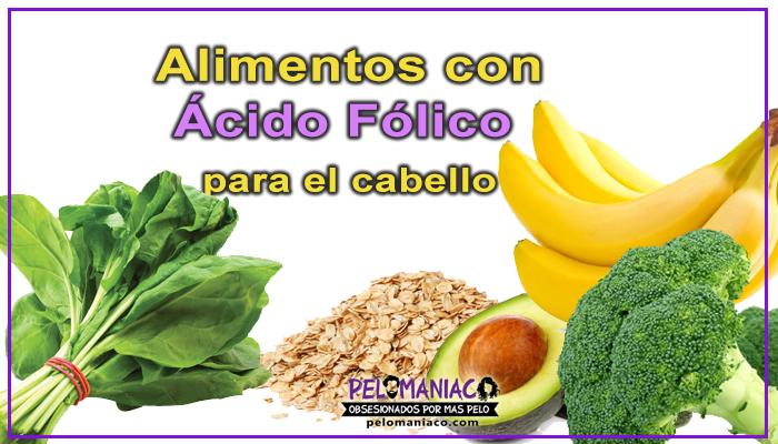 alimentos con ácido fólico para el cabello