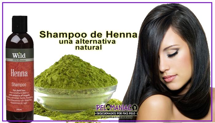 shampoo de henna para las canas y teñir el cabello