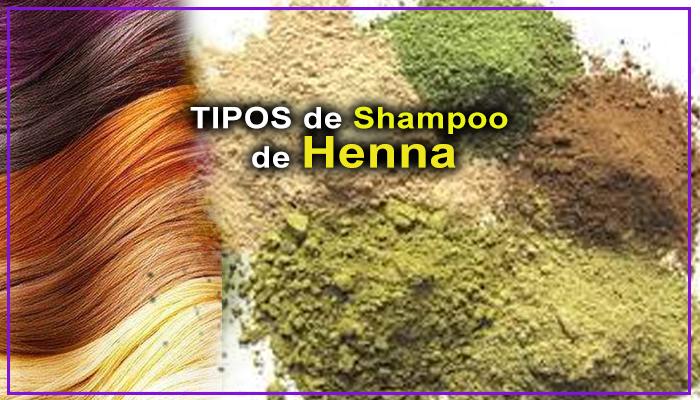 tipos de shampoo de henna