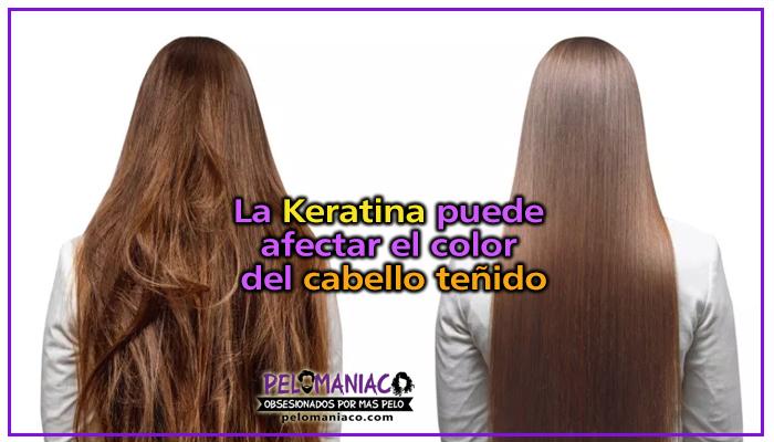 la keratina aclara el cabello teñido