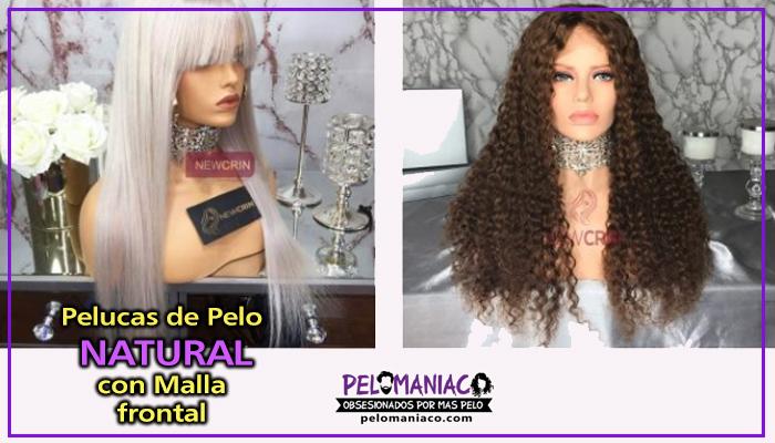 pelucas pelo natural con malla frontal