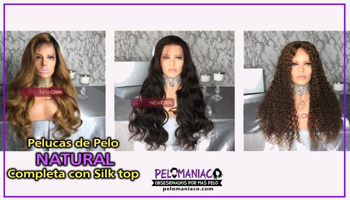pelucas pelo natural con silk top