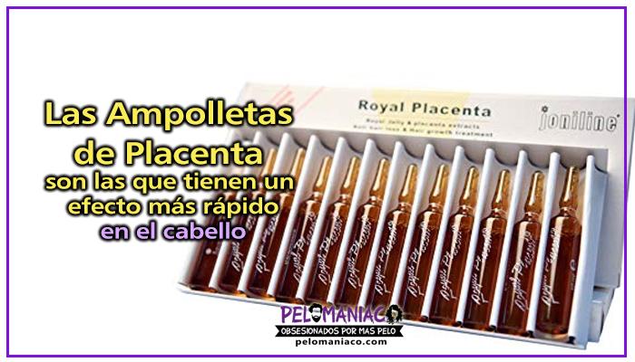 ampolletas de placenta para el cabello