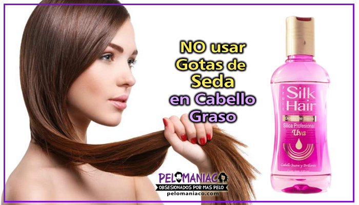 como aplicar gotas de seda para el cabello