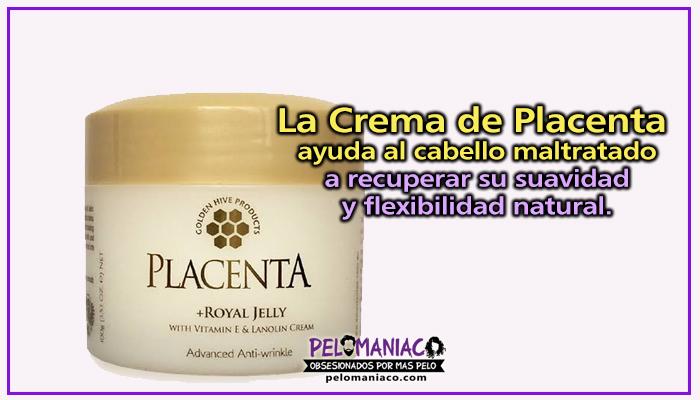 crema de placenta para el cabello