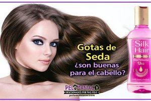gotas de seda para el cabello