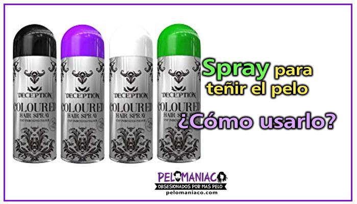spray para teñir el pelo como usarlo